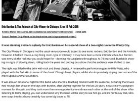 NRR - show review - Eric Burdon & The Animals 2.16.16